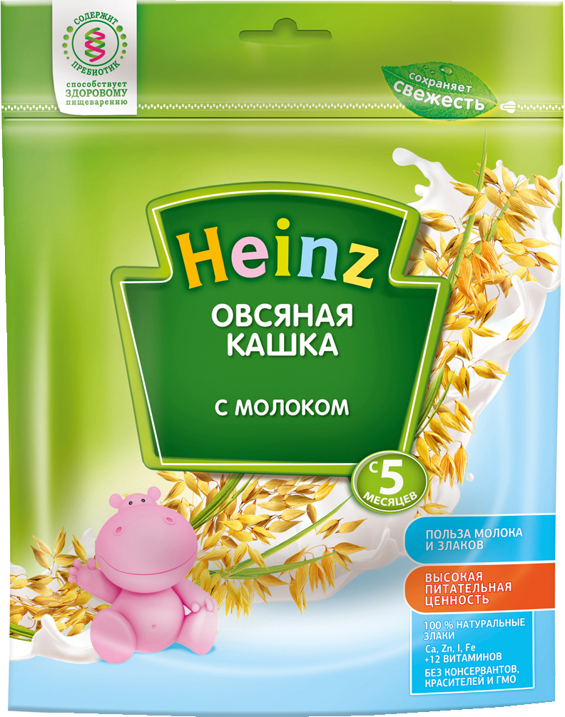 Каша Heinz Heinz Молочная овсяная (с 5 месяцев) 250 г heinz каша лакомка овсяная яблочко черника чёрная смородина с 5 мес