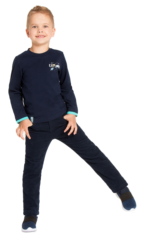 Футболки Barkito Футболка с длинным рукавом для мальчика Barkito Путешествие в космос 1, темно-синяя футболка с длинным рукавом для мальчика barkito супергерой темно синяя