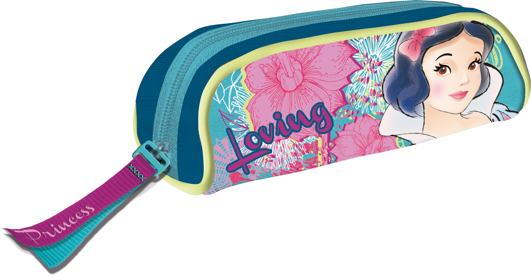 Канцелярия Princess Пенал Disney Princess на молнии пенал на молнии лиса 20 8см силикон пвх бокс 12 22716 ml bd2116 1