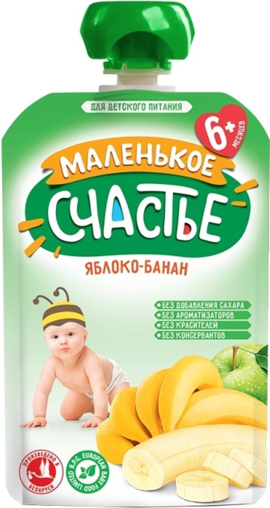 Пюре Маленькое счастье Яблоко-банан с 6 мес. 90 г (пауч) яблоко банан с 6 мес 90 гр