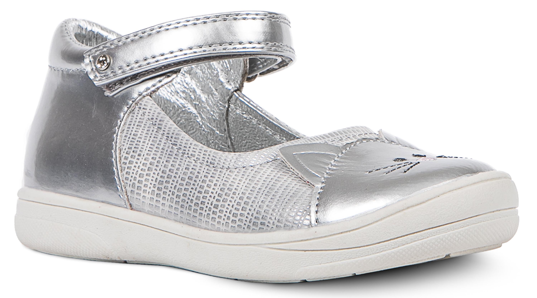 Купить Босоножки, Туфли для девочки Barkito, серебристые, Китай, серебристый, Женский