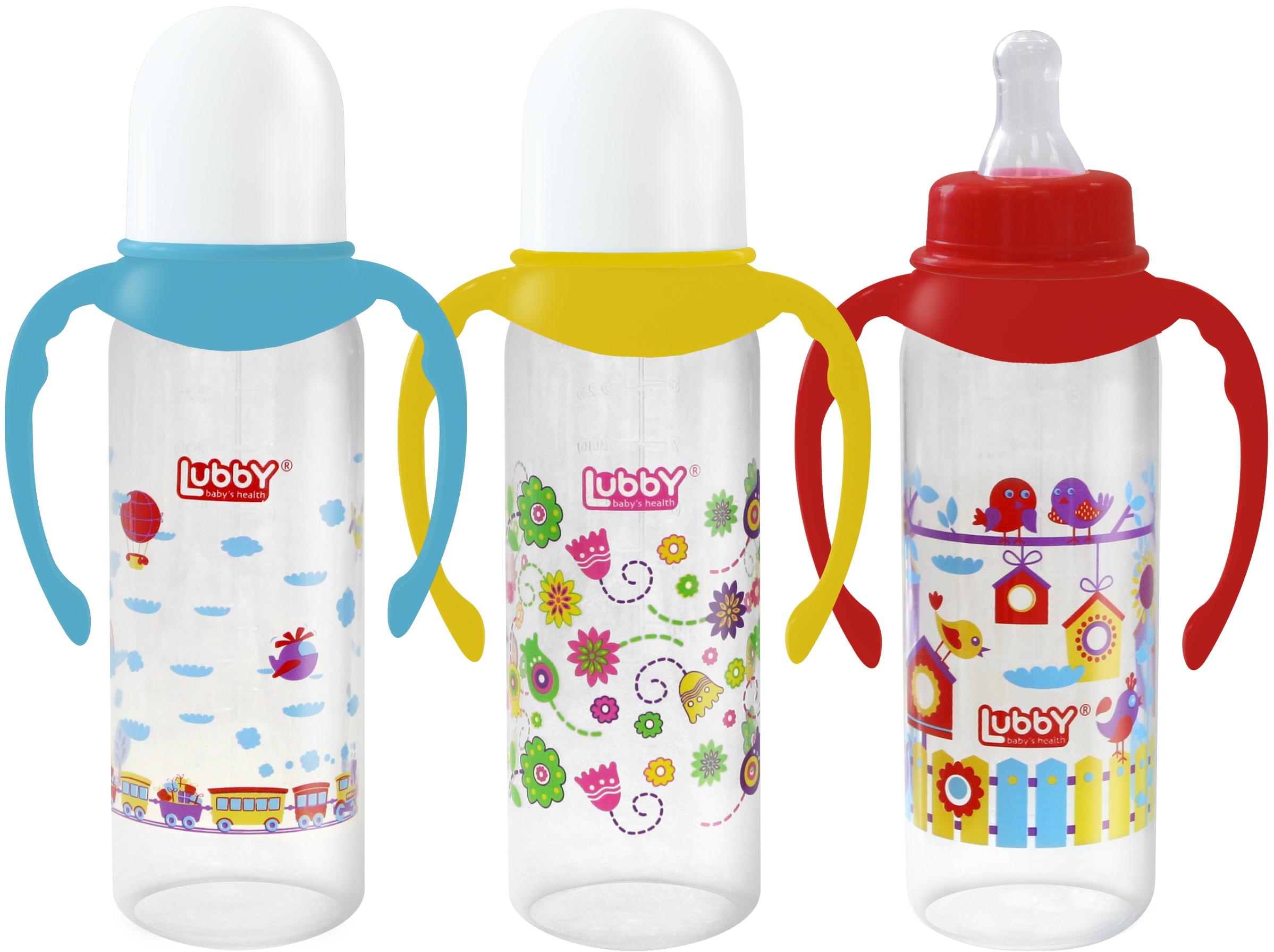 Малыши и малышки с ручками и силиконовой соской 0+, 250 мл. 11391