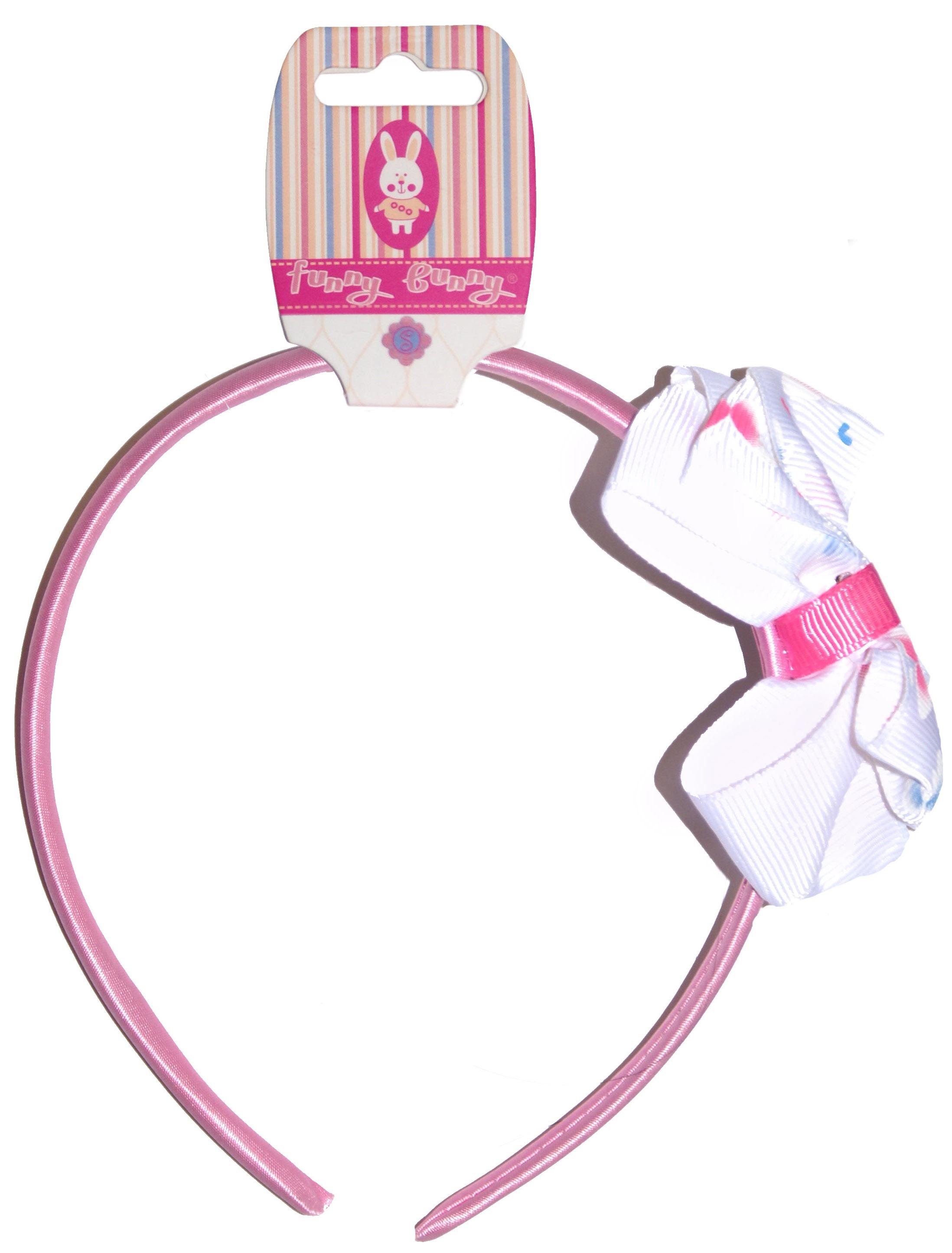 Украшения Funny Bunny Ободок для волос Funny Bunny средний в ассортименте невидимка для волос funny bunny розовые цветы 2 шт