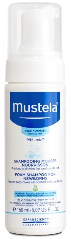 Средства для купания малышей Mustela Пенка-шампунь для новорожденных 150 мл