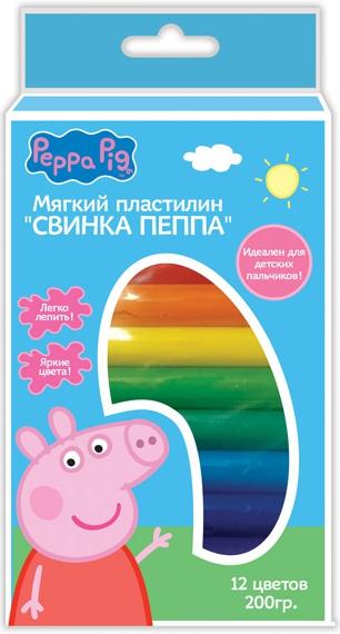 Пластилин Peppa Pig Свинка Пеппа peppa pig набор толстых восковых карандашей свинка пеппа 8 цветов