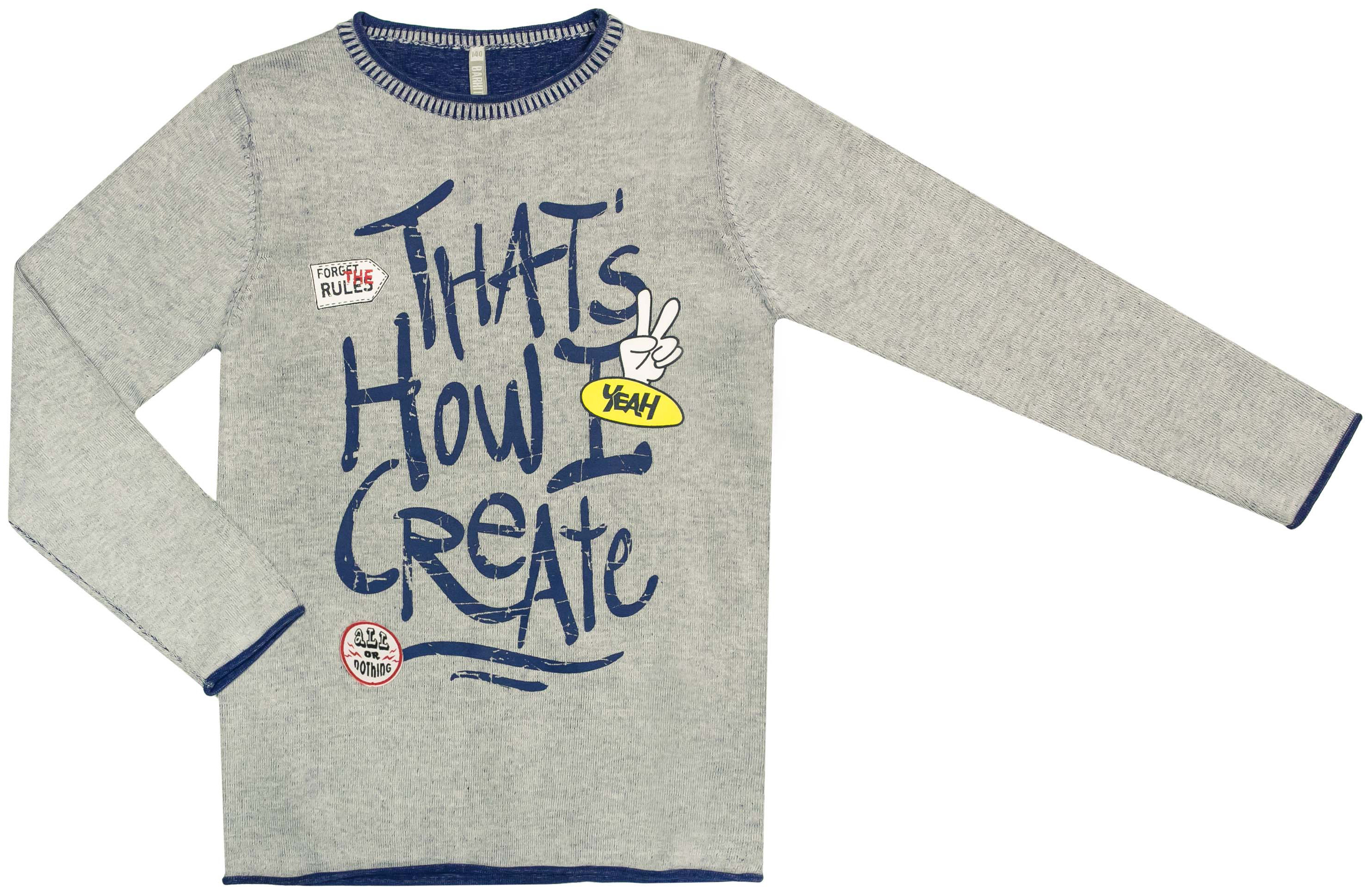 Пуловер для мальчика Barkito Супергерой ostin джемпер с крупным принтом
