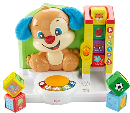 Развивающая игрушка Fisher Price Смейся и учись: Умная панель Ученого Щенка «Первые слова» mattel интерактивная игрушка fisher price смейся и учись плеер учёного щенка
