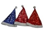 Костюмы и маски 1toy Шапка Деда Мороза 1Toy в асс. сатиновый красный костюм деда мороза 54 56