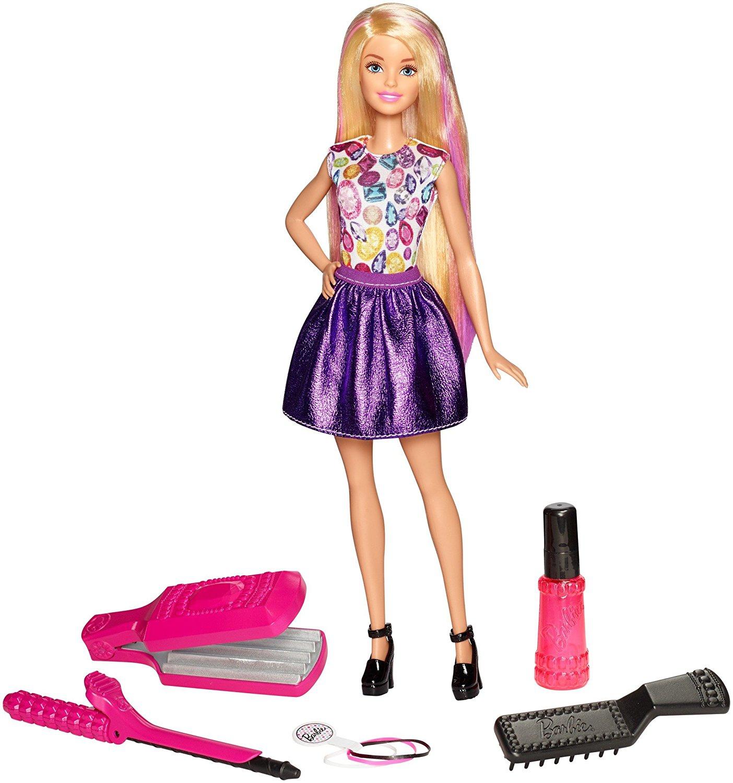 Игровой набор Mattel Цветные локоны набор парикмахера klein barbie с феном