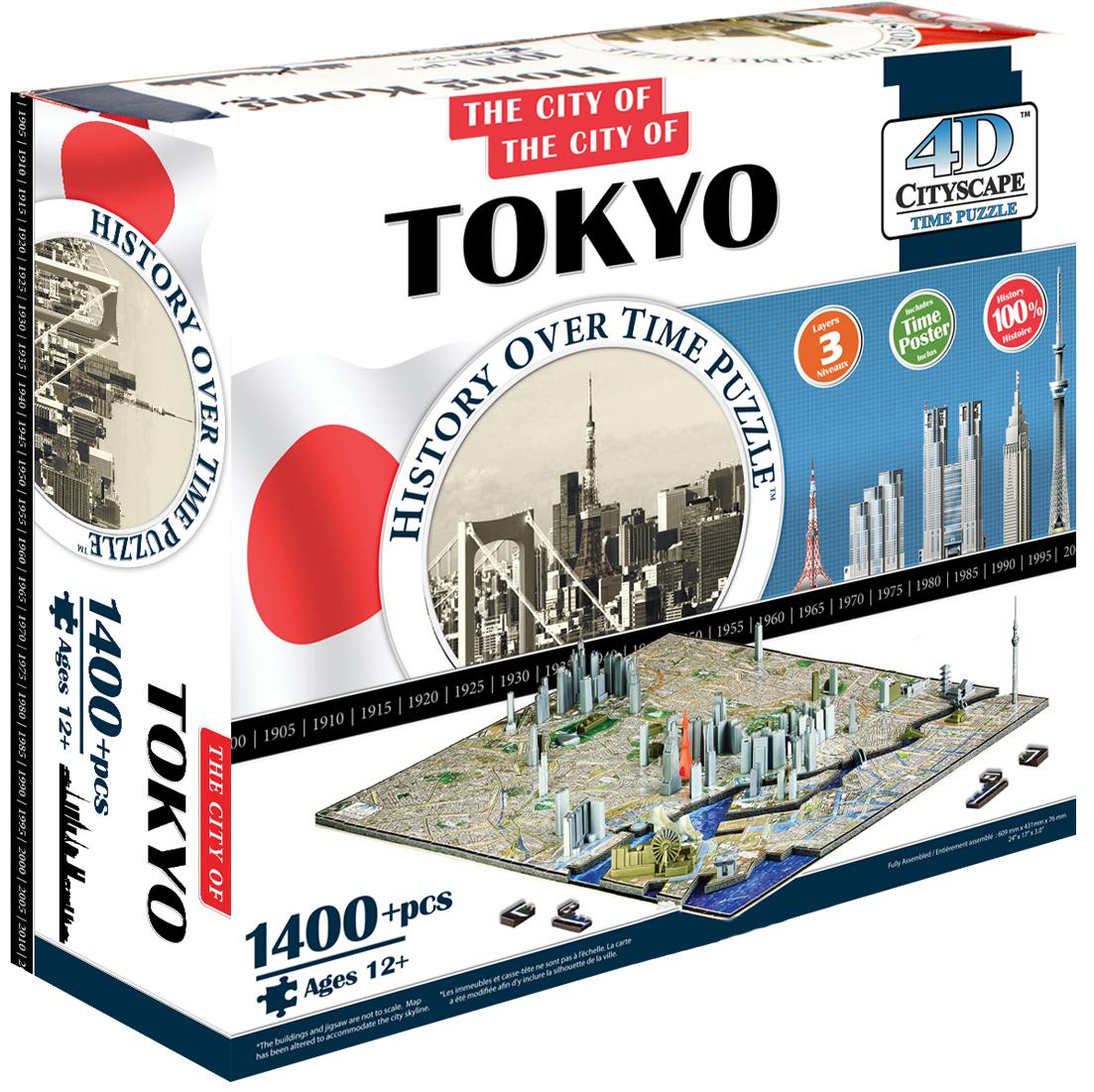 Пазлы 4D Cityscape Пазл 4D Cityscape «Токио» 1400 дет. объемный фен ga ma legerro ozone ion 4d a21 leggeroion 4d