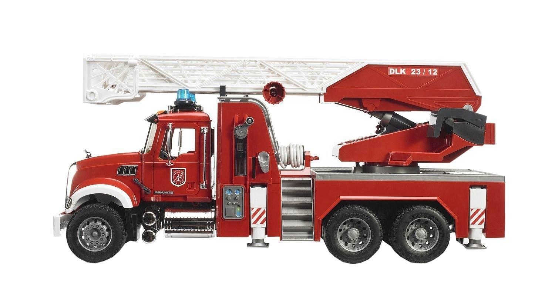 Машина Bruder «Пожарная машина MACK» с выдвижной лестницей и помпой