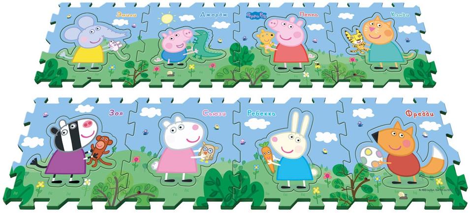 Коврик-пазл Peppa Pig Пеппа и друзья