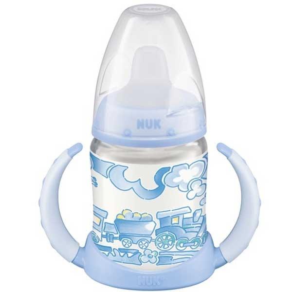 Бутылочка для кормления NUK с силиконовой соской с рождения 150 мл бутылочка для кормления nuk first choice plus с силиконовой соской м 0 150 мл в ассортименте