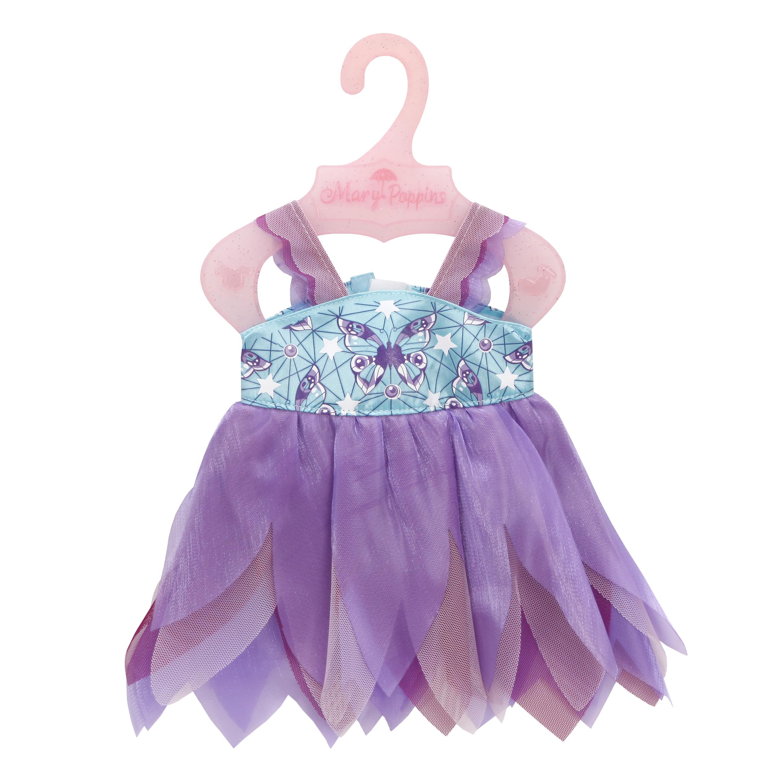 Купить Одежда для кукол, Платье. Бабочка, 1шт., Mary Poppins 452136, Китай, фиолетовый, голубой