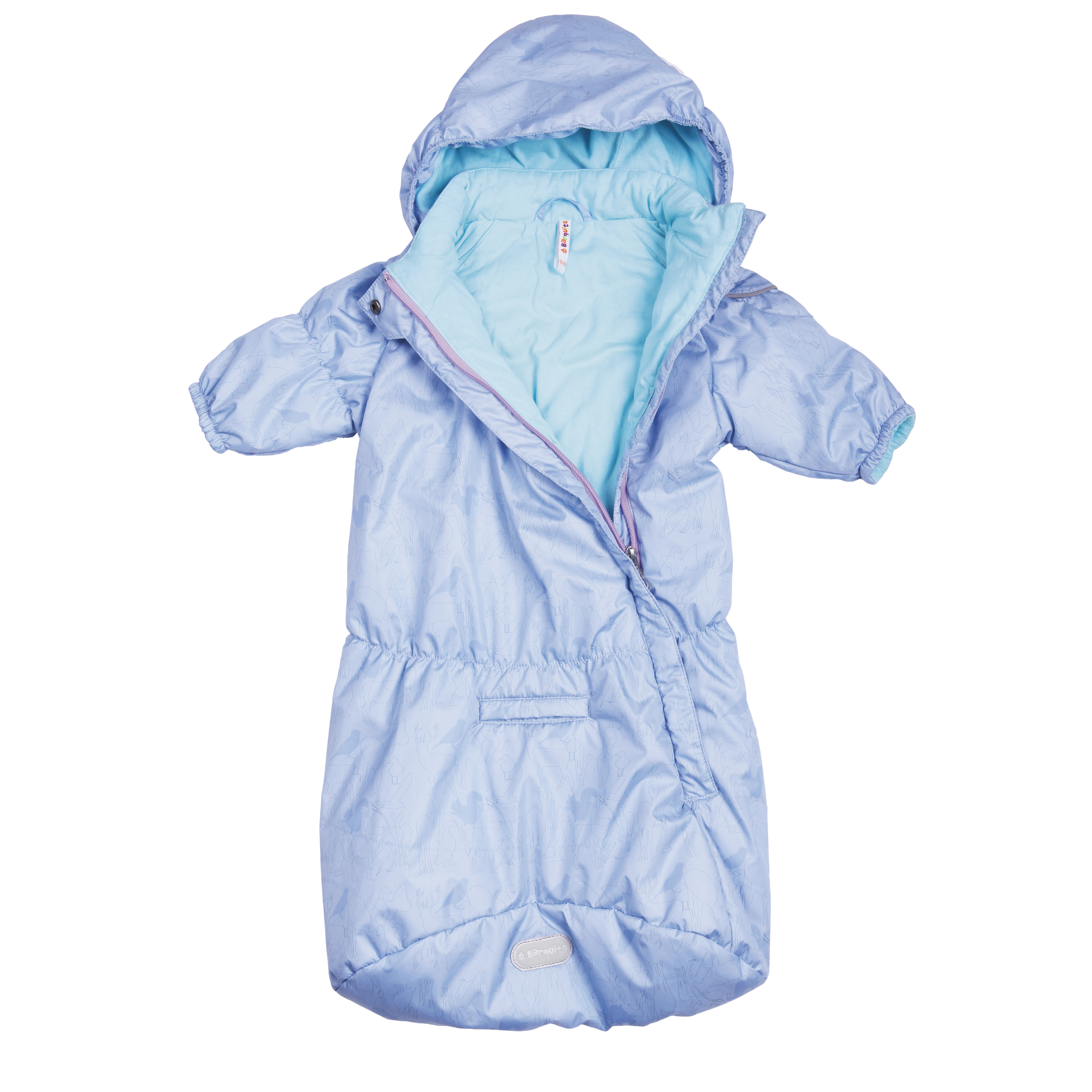 Конверты и спальные мешки BARQUITO Спальный мешок для мальчика Barquito голубой спальный мешок