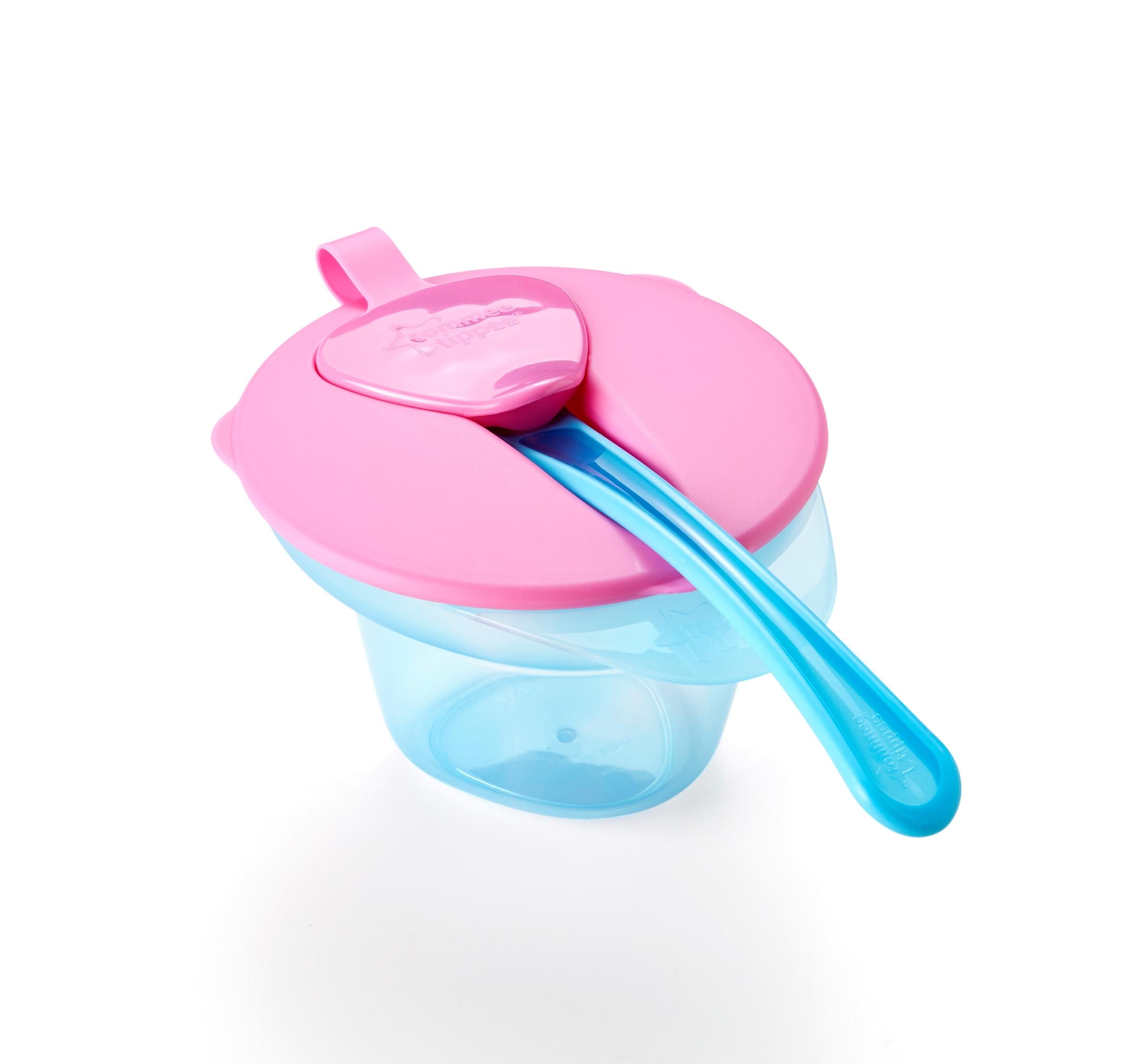 Тарелочка Tommee Tippee с отделением для разминания и охлаждения пищи розовая