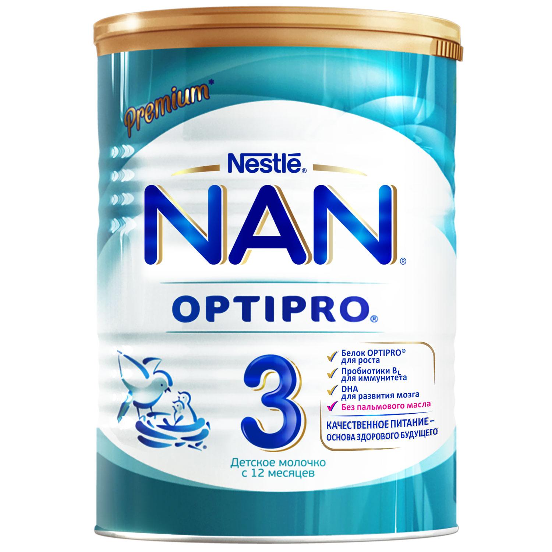 Сухие NAN NAN (Nestlé) 3 Optipro (с 12 месяцев) 400 г детское молочко nan 4 optipro с 18 мес 800 г