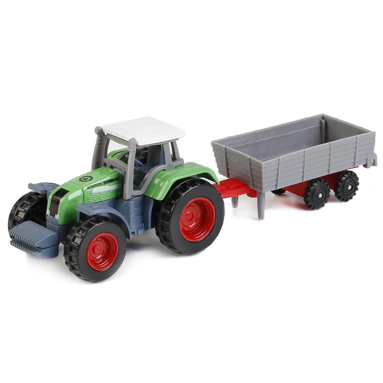 Машинка Технопарк Трактор с прицепом 1801C-1BCD-R 17 см
