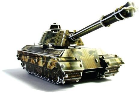 Наборы игрушечных инструментов UF Заводной 3D-пазл UF «Танк» конструкторы uf заводной 3d пазл диплодок
