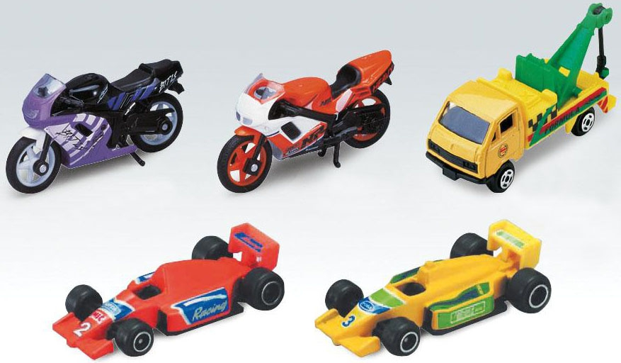 Машинки и мотоциклы Welly Набор машинок и мотоциклов 5 шт. Welly