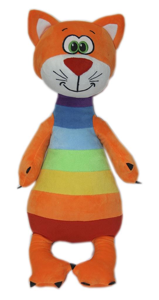 Мягкие игрушки СмолТойс Котенок радужный мягкая игрушка смолтойс зайка радужный 51 см