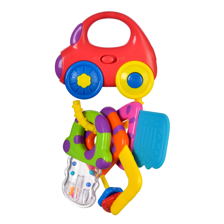 Купить Погремушки, Машинка с ключиками, со светом, Жирафики, Китай, разноцветный