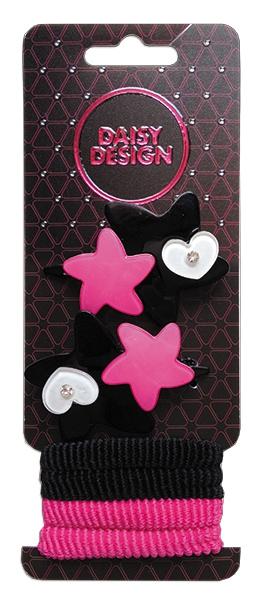 Украшения DAISY DESIGN Набор аксессуаров для волос Daisy Design розовый с черным