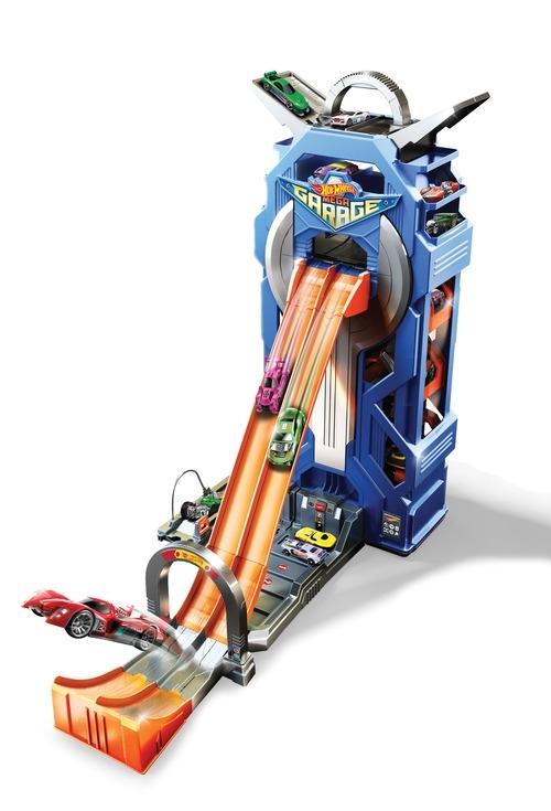 Гаражи и игровые наборы Hot Wheels Гараж Hot Wheels «Mega Garage» автотрек hot wheels гоночная трасса рикошет fdf27