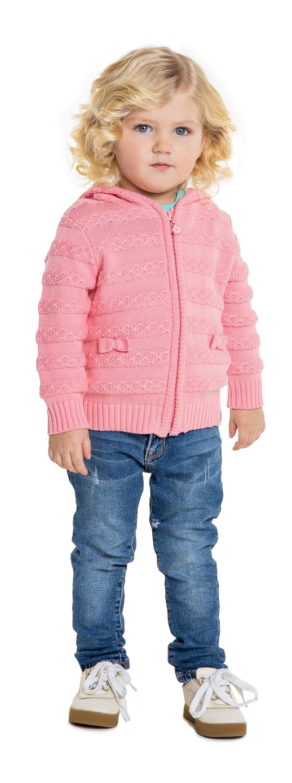 Купить Кардиганы, вязаный для девочки, Barkito, Китай, розовый, 100% хлопок, Женский