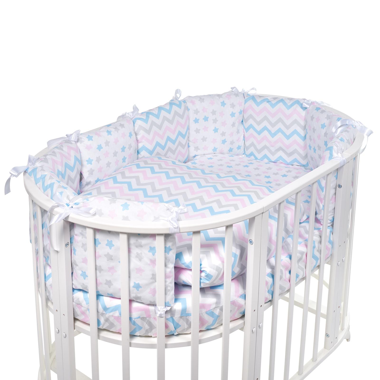 Постельные принадлежности Sweet Baby Комплект в овальную кроватку Sweet Baby Lunedi Bianco 5 пр. honeymammy бортики подушки в кроватку clouds