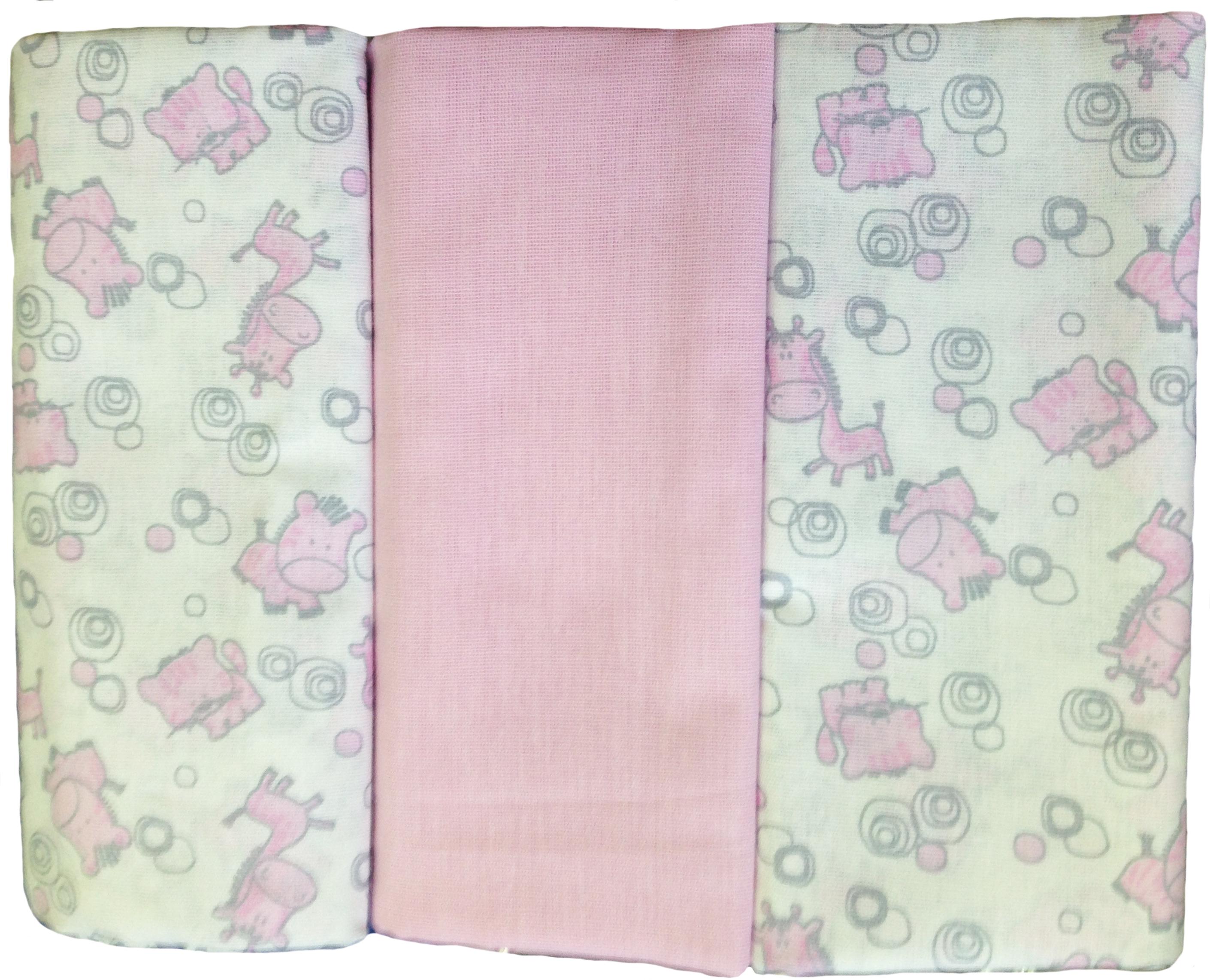 Первые вещи новорожденного Barkito Комплект пелёнок Barkito (ситец) 90х120 3 шт.