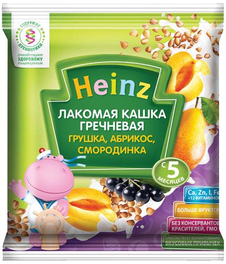 Каши Heinz Heinz Лакомая молочная гречневая грушка, абрикос, смородинка (с 5 месяцев) 30 г каши heinz молочная лакомая овсяная каша яблоко черника черная смородина с 5 мес 200 г