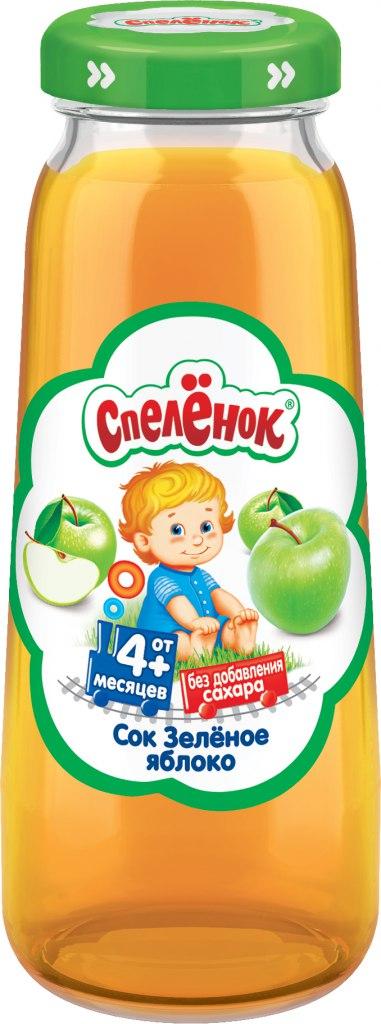 Купить Сок, Спелёнок Зелёное яблоко с 4 мес. 200 мл, 1шт., Спеленок 240247, Россия