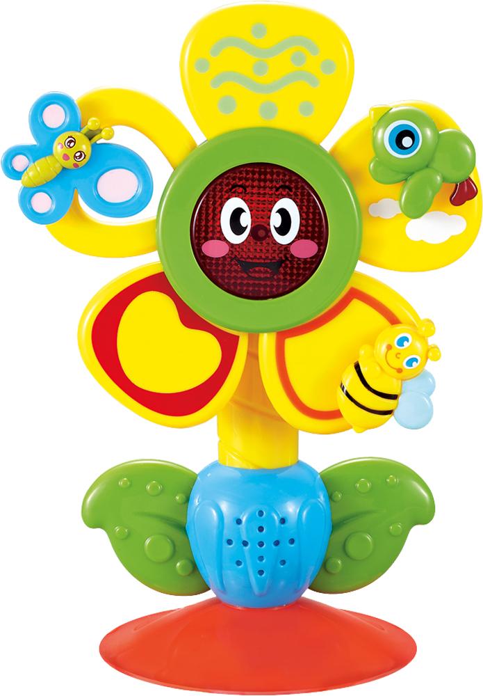 Купить Музыкальные игрушки, Fun Flower музыкальная на присоске, Happy baby, Китай, Мультиколор