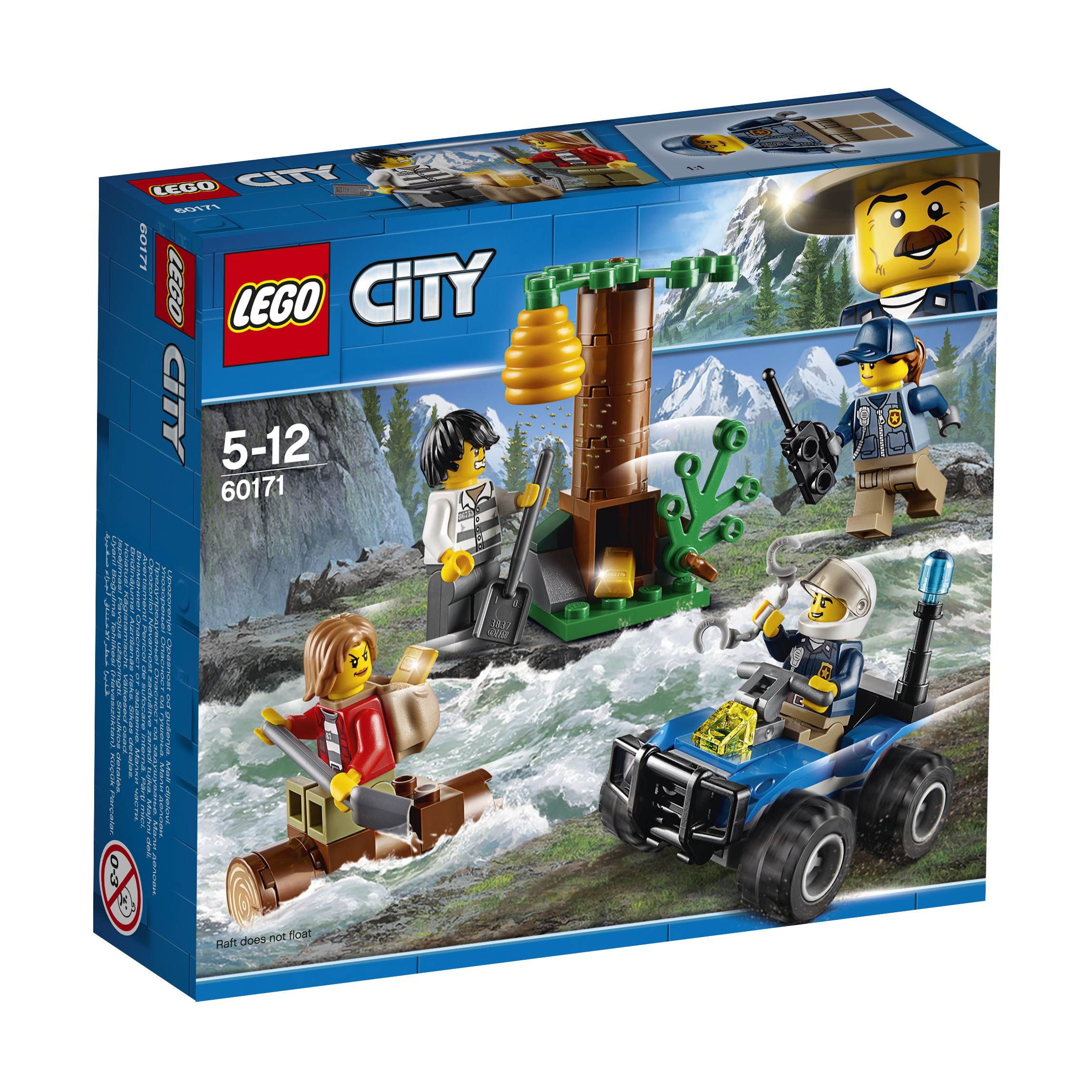 Конструктор LEGO City Police 60171 Убежище в горах конструктор lego city police 60174 полицейский участок в горах