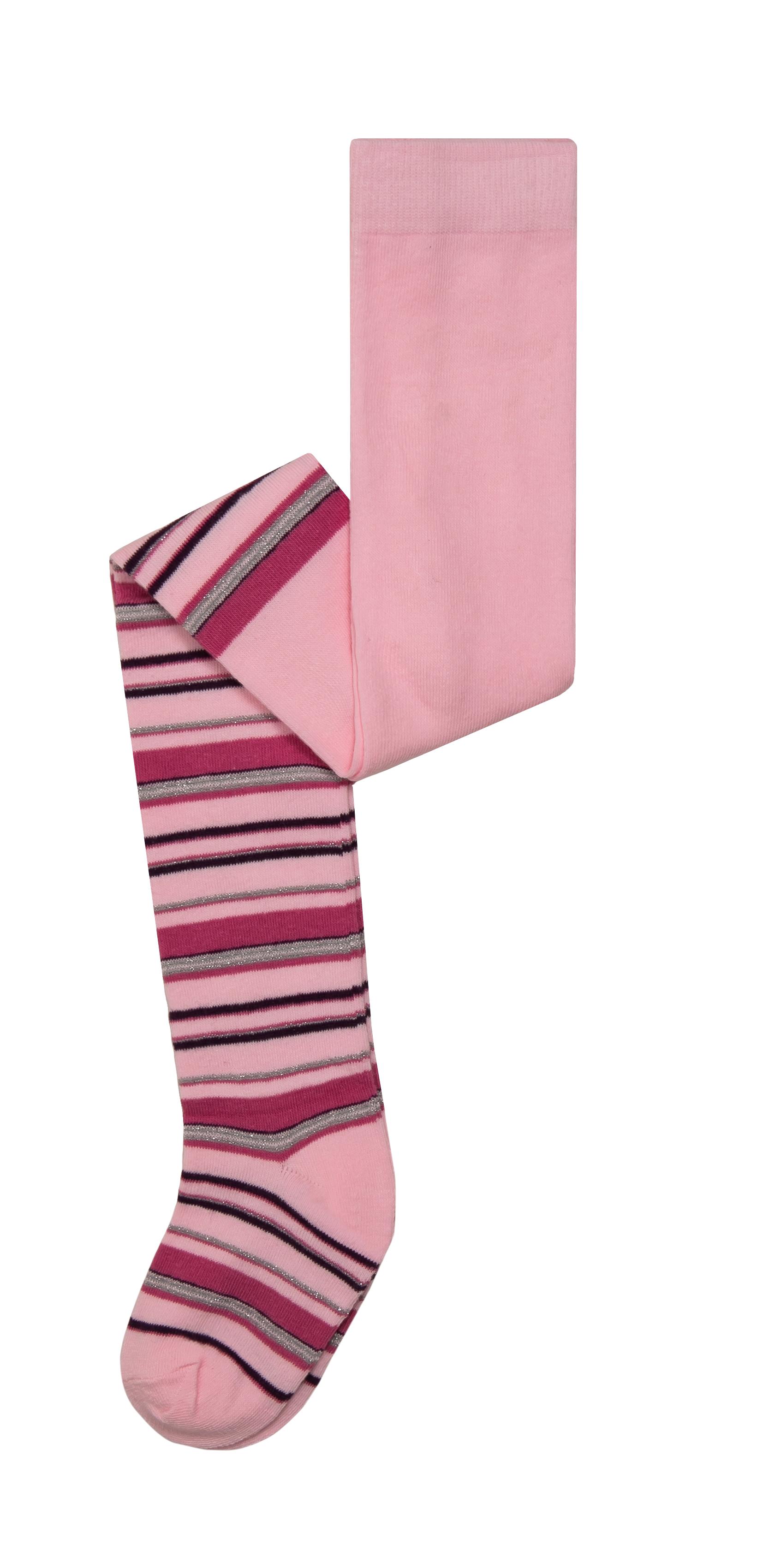 Купить Колготки, для девочки, розовые с рисунком в полоску, Barkito, Китай, pink, Женский