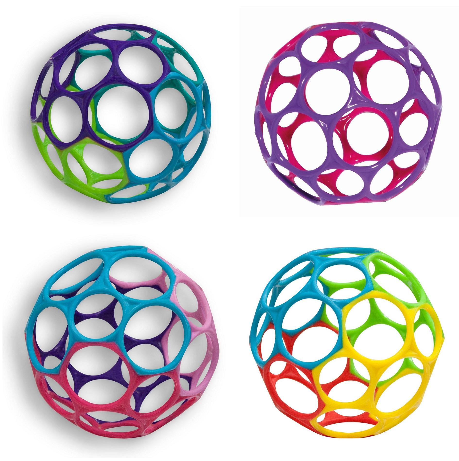 Погремушки Oball Гремящий мячик развивающие игрушки oball мячик на присоске