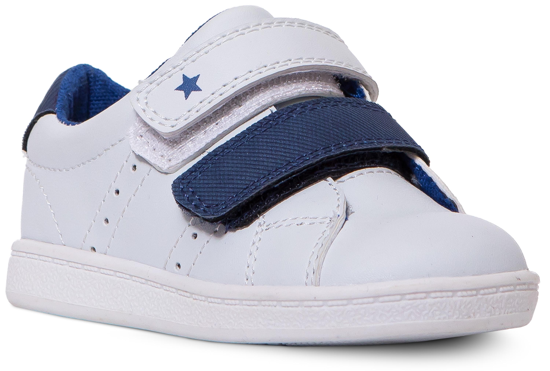 Полуботинки для мальчика Barkito Белые с голубым ботинки и полуботинки barkito krs18116 1