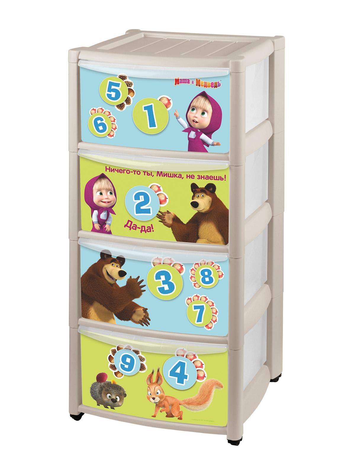 все цены на Детские комоды Пластишка Маша и медведь онлайн