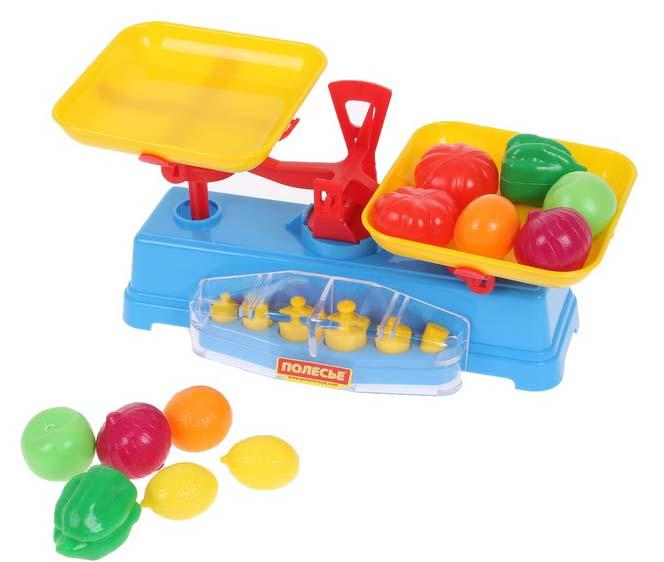 Посуда и наборы продуктов Полесье Игровой набор Весы Набор продуктов полесье игровой набор гараж 1 премиум с автомобилями