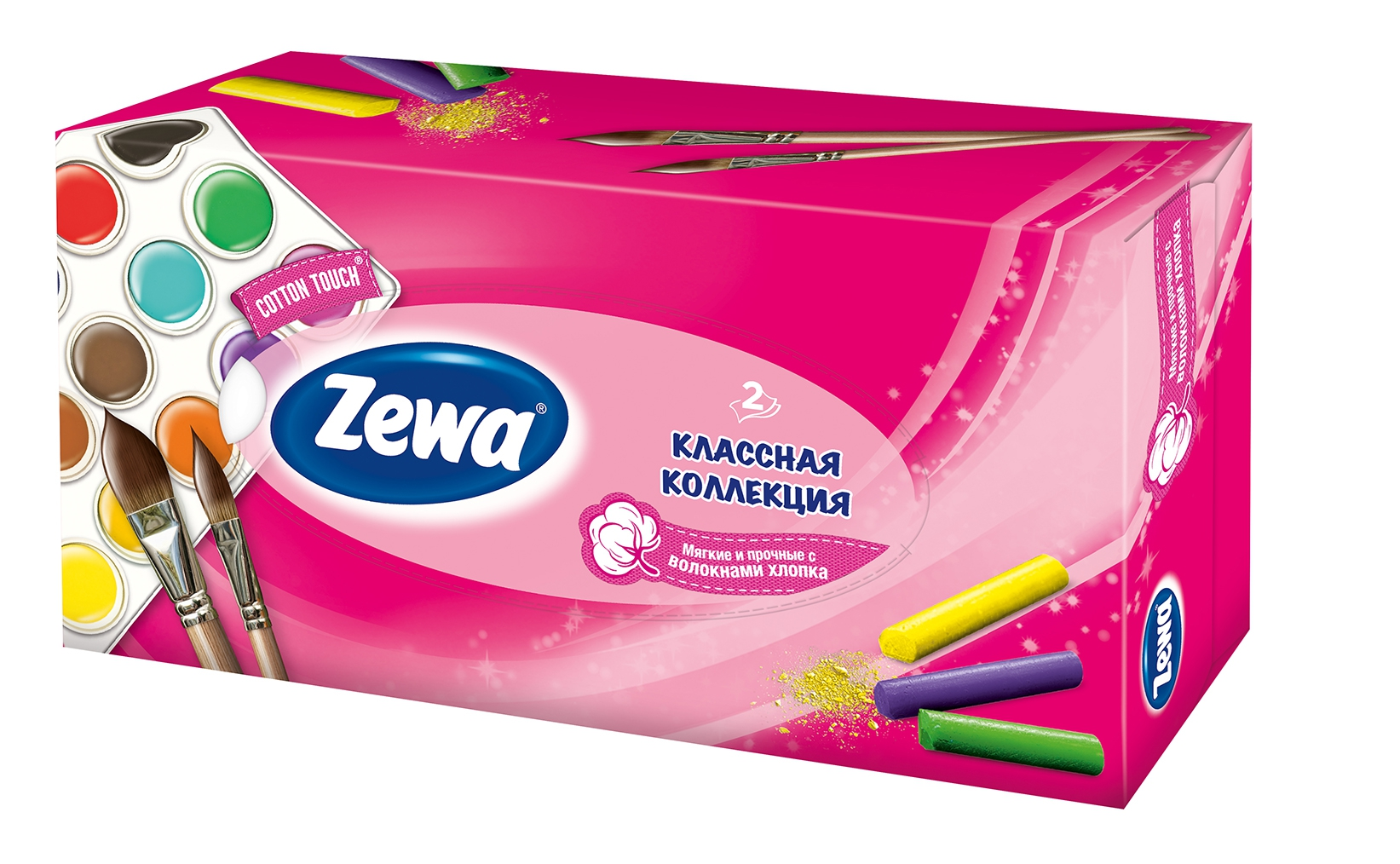 Салфетки Zewa Классная коллекция 100 шт