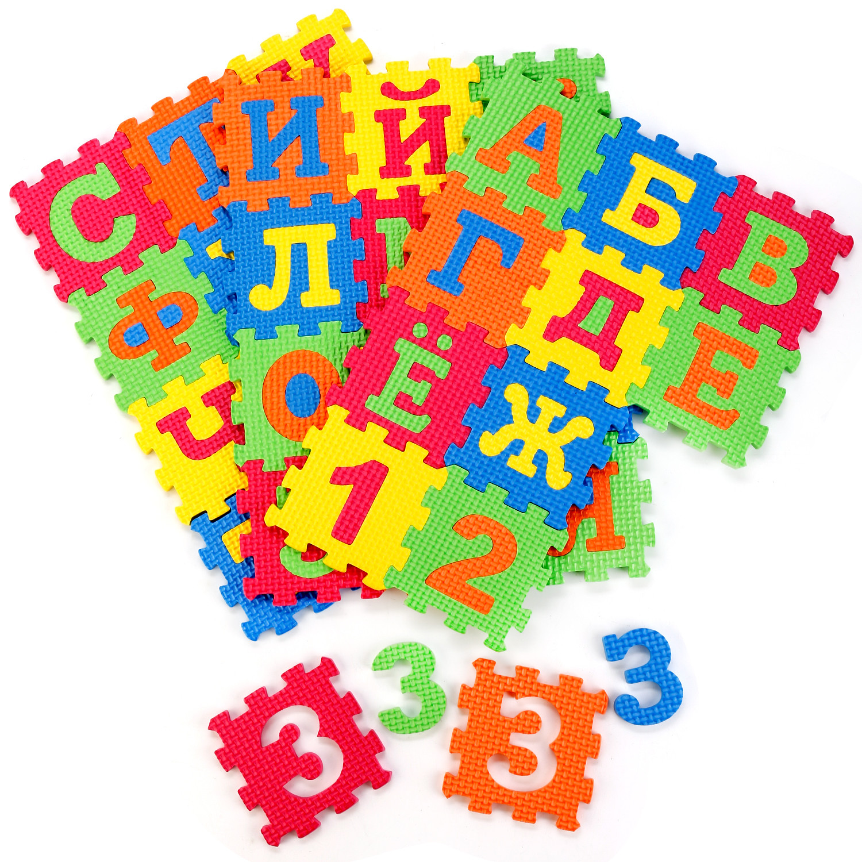 Пазлы Играем вместе Мягкие пазлы со съемными цифрами Играем вместе «Союзмультфильм»