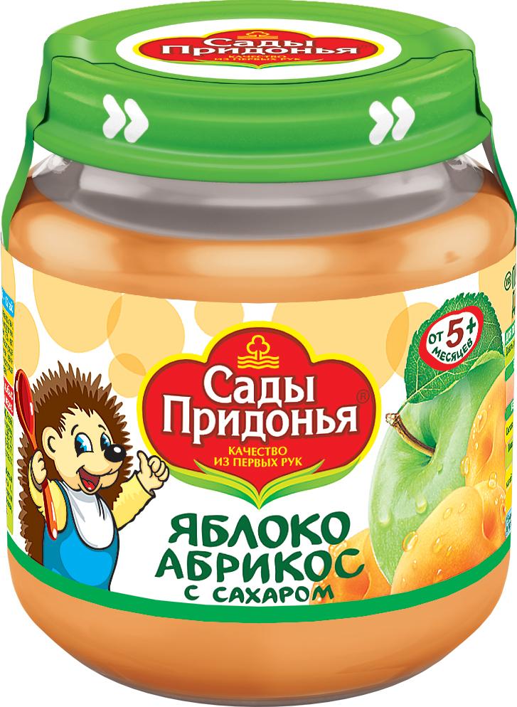 купить Пюре Сады придонья Сады Придонья Яблоко с абрикосом с 5 мес. 120 г по цене 33.9 рублей