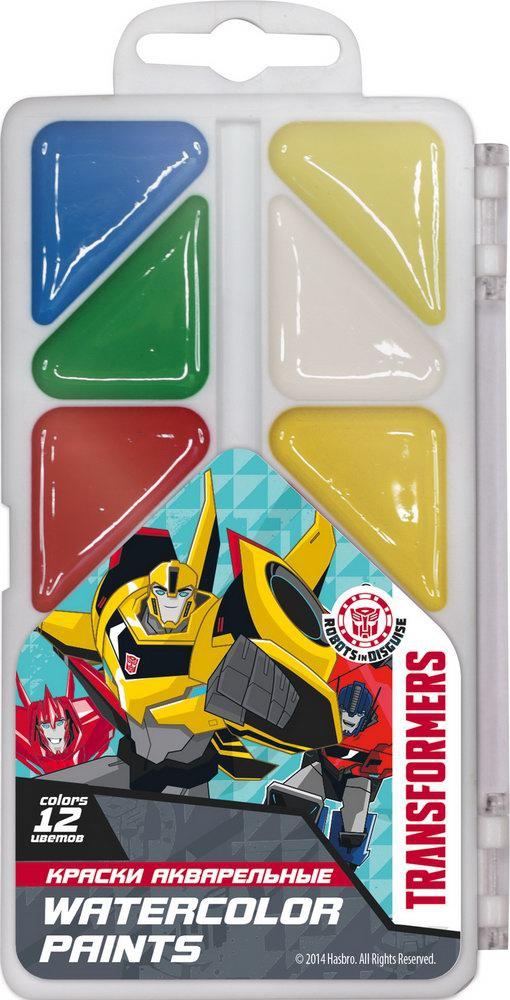 Краски Transformers Акварельные (медовые) 12 цветов bondibon краски акварельные 12 цветов вв2233