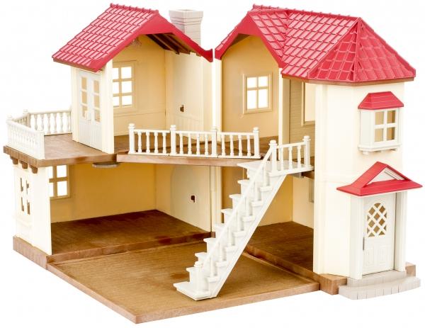 SYLVANIAN FAMILIES Игровой набор Sylvanian Families «Большой дом со светом» дерево дом sylvanian families