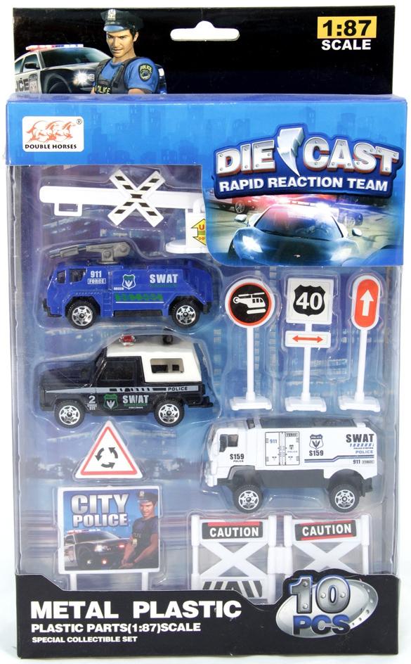 Набор машинок Die-Cast Полиция цена