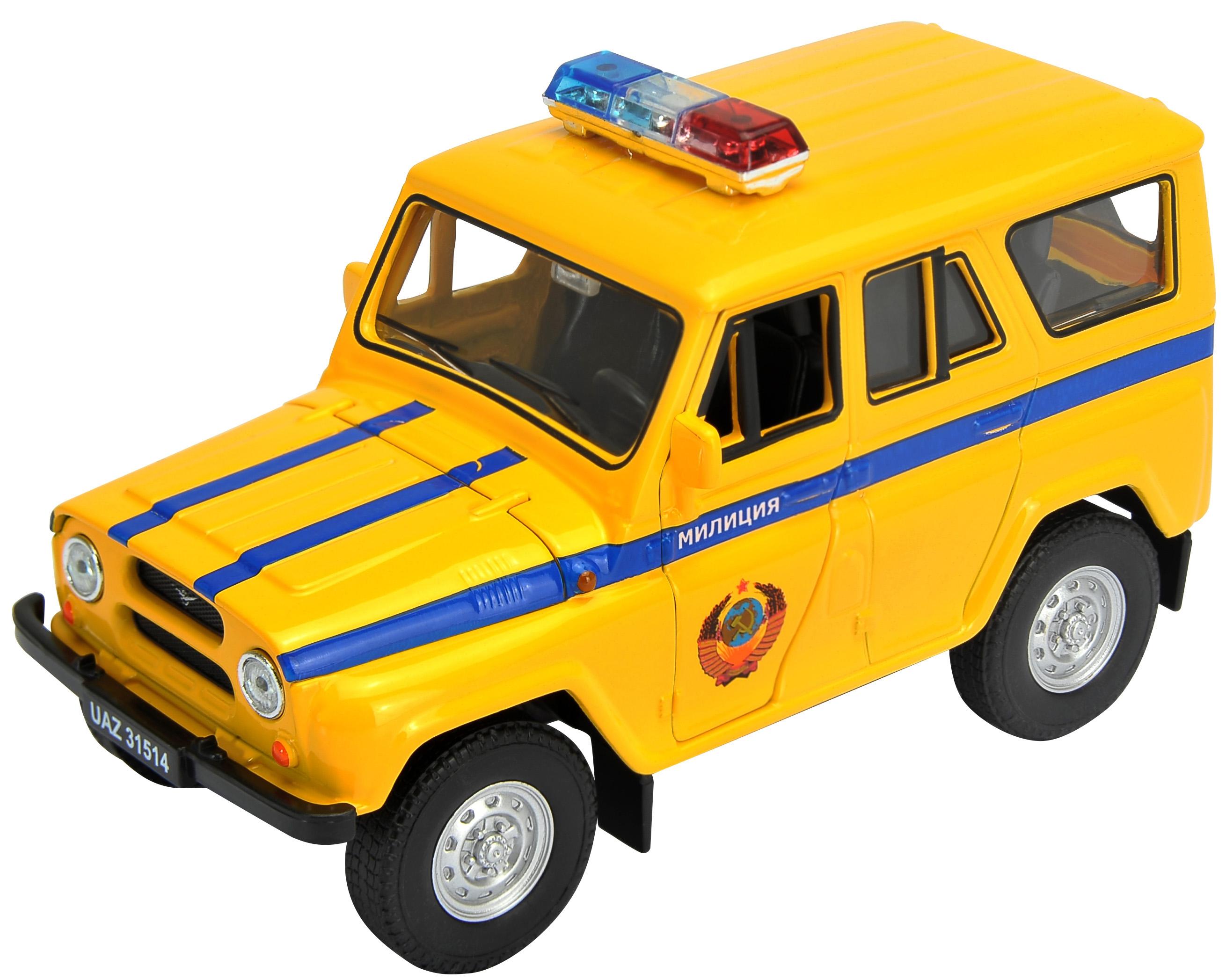 Модель машины Welly УАЗ 31514 Милиция инерционная 1:34