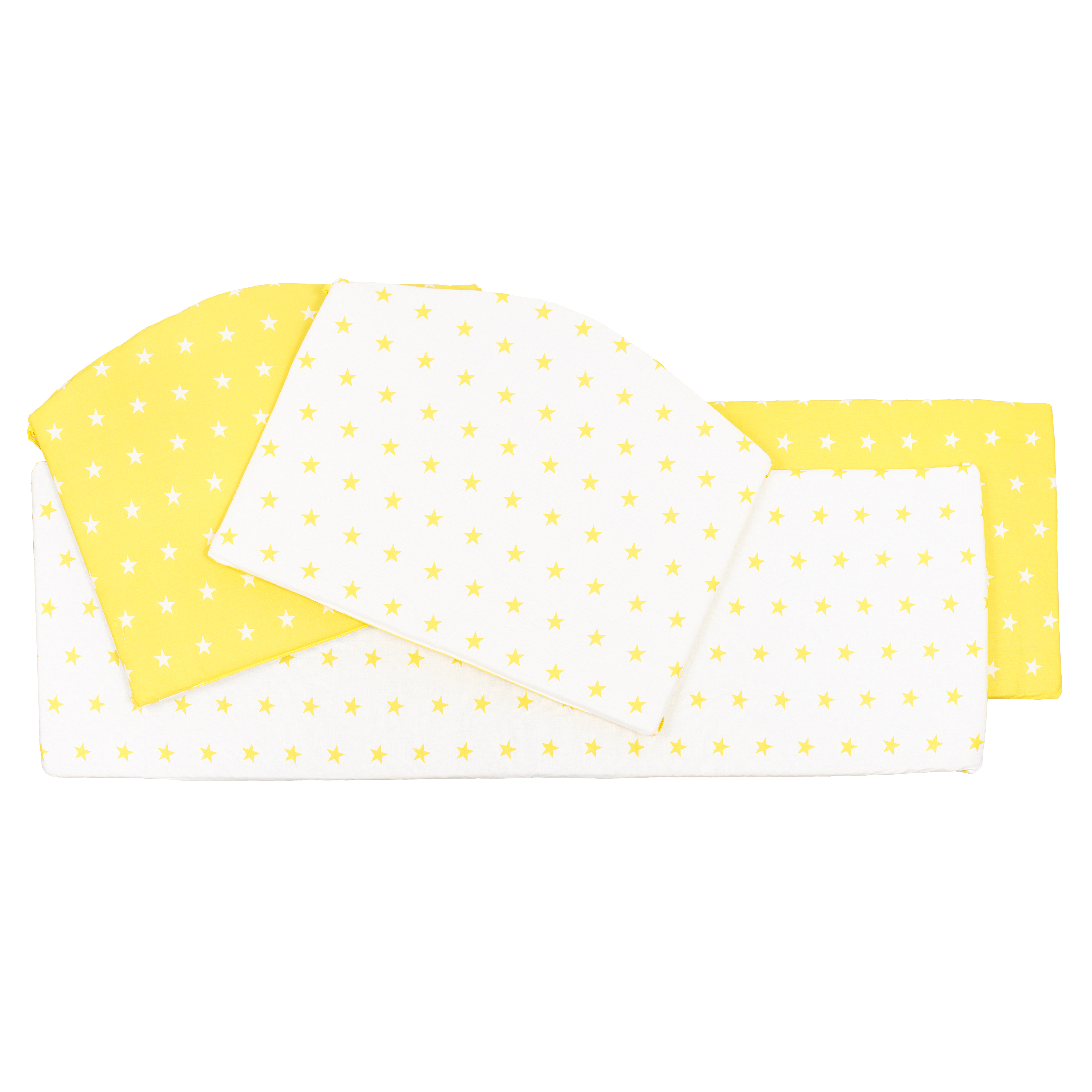 все цены на Постельные принадлежности Sweet Baby Бортики Sweet Baby «Stelle Giallo» 4 пр. желтые онлайн