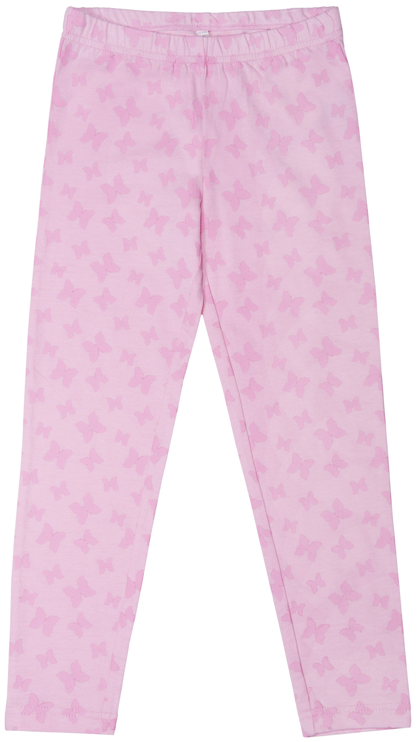 Брюки трикотажные для девочки Barkito База розовый с рисунком легинсы barkito база голубой с рисунком бабочки