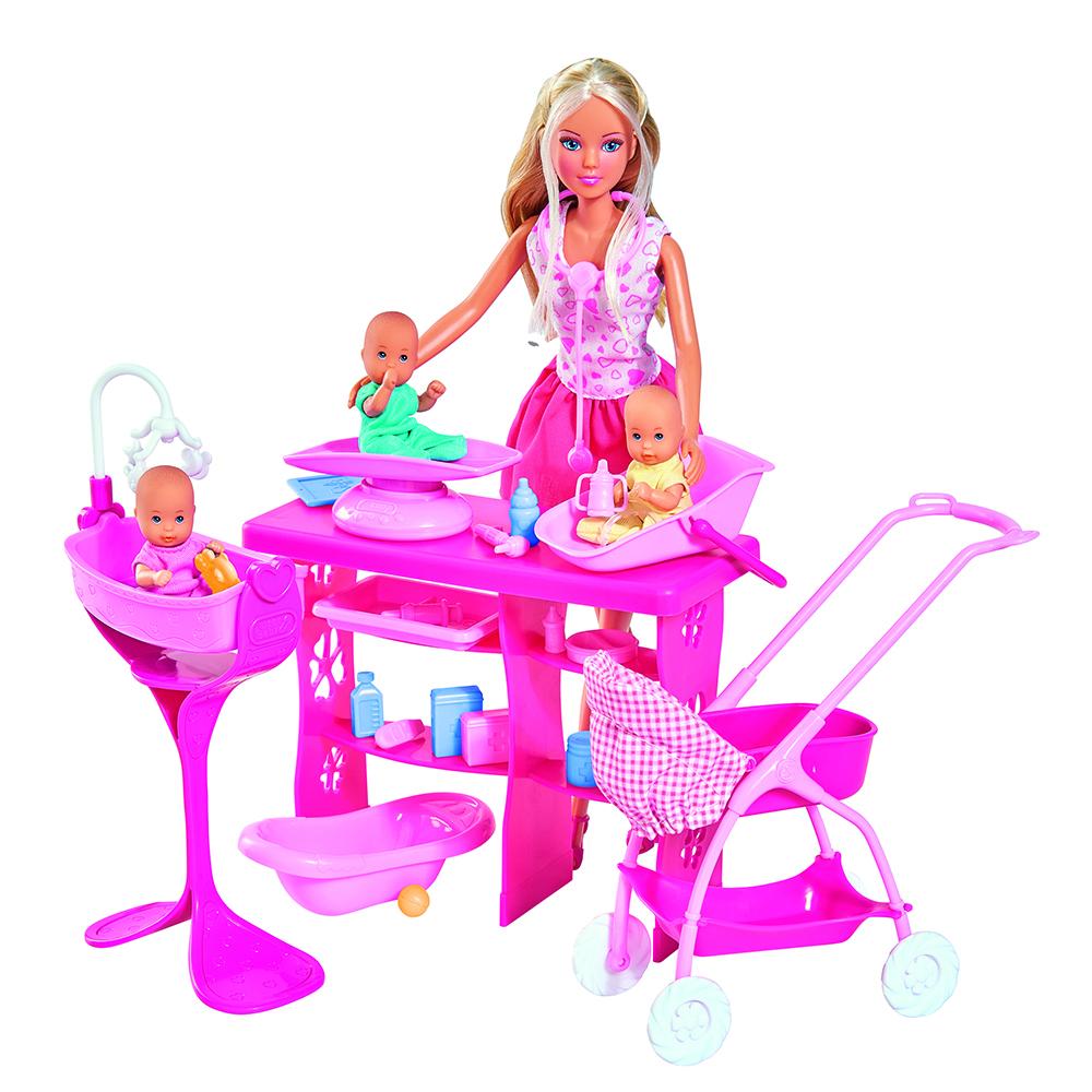 Фото - Куклы simba Штеффи с 3 малышами аксессуары для mp3 плееров
